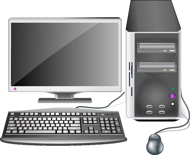 Desktop Computer Clipart Image